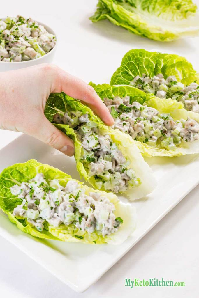 Low Carb Chicken Salad Wraps