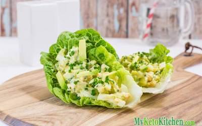 Low Carb Avocado Egg Salad Wraps