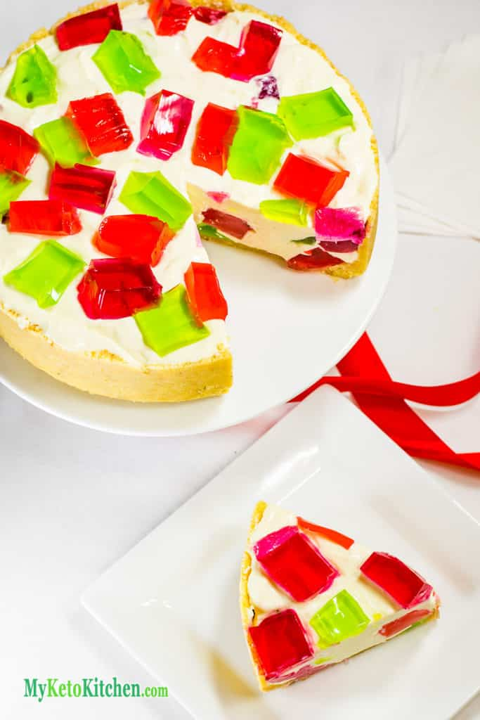 No Bake Sugar Free Jello Chunk Cheesecake