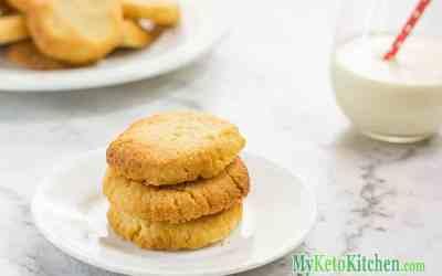 Low Carb Vanilla Shortbread Cookies
