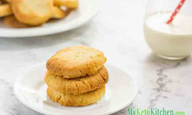 Low Carb Vanilla Shortbread Cookies