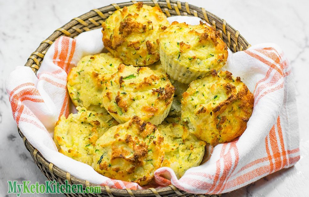 Low Carb Cheddar Cheese & Zucchini Muffins [Keto friendly]