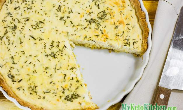 Delicious Ketogenic Three Cheese Pie