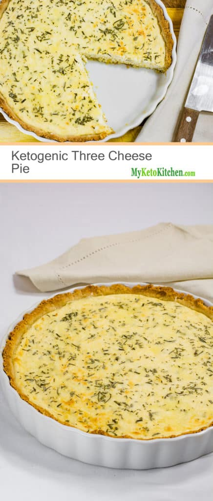 Ketogenic Three Cheese Pie (Low Carb, Gluten Free, Grain Free)