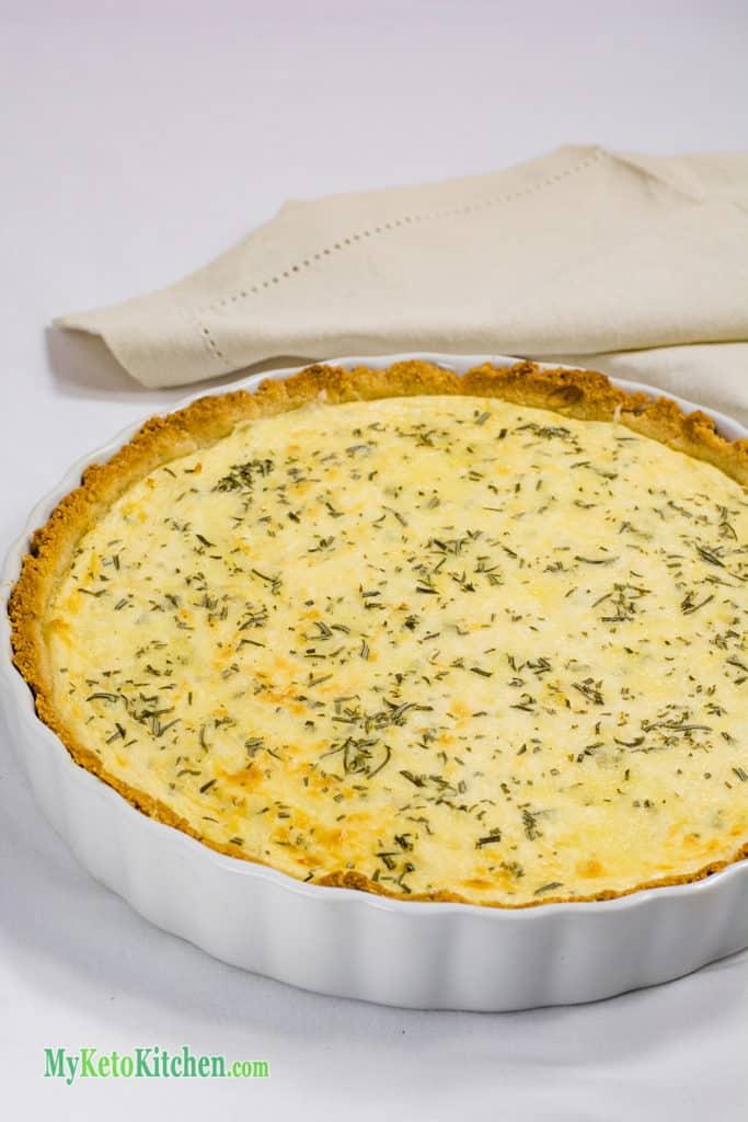 Ketogenic Three Cheese Pie
