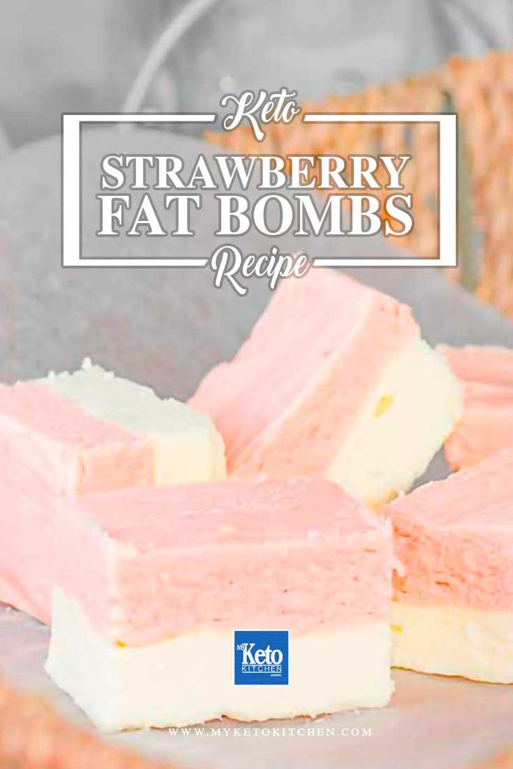 Strawberry Vanilla Fat Bombs