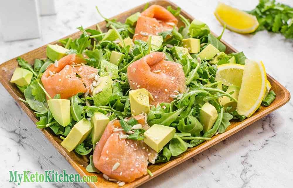 Smoked Salmon, Avocado & Rocket Salad