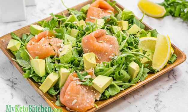 Smoked Salmon, Avocado & Rocket Salad