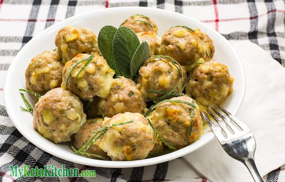 Low Carb Cheddar, Maple & Mustard Pork Meatballs
