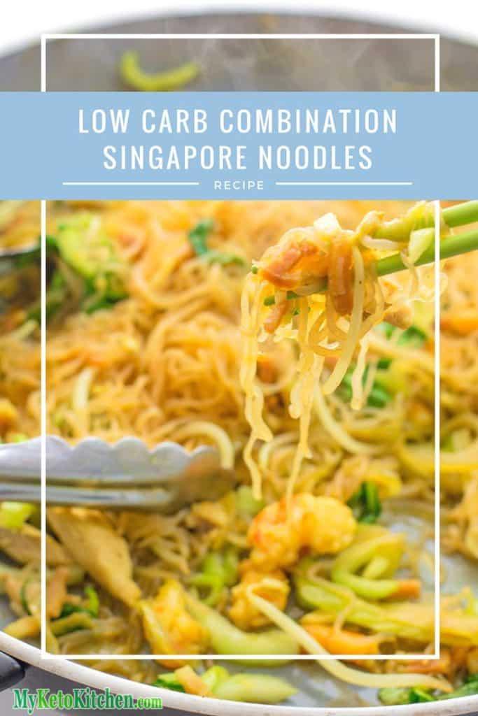 Low Carb Combination Singapore Noodles (Gluten Free, Grain Free, Keto)