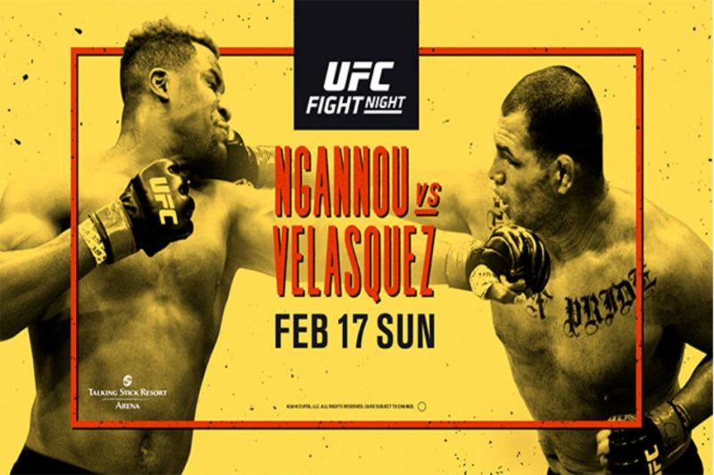 UFC on ESPN: Ngannou vs  Velasquez fight card and schedule