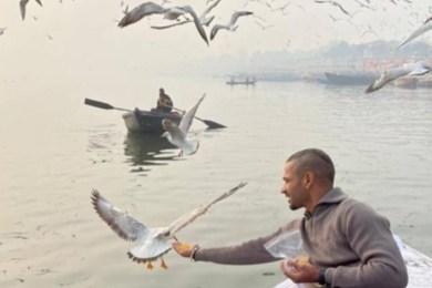 Shikhar Dhawan enjoys boat-ride in Varanasi, administration to take action at his boatman for flouting rules
