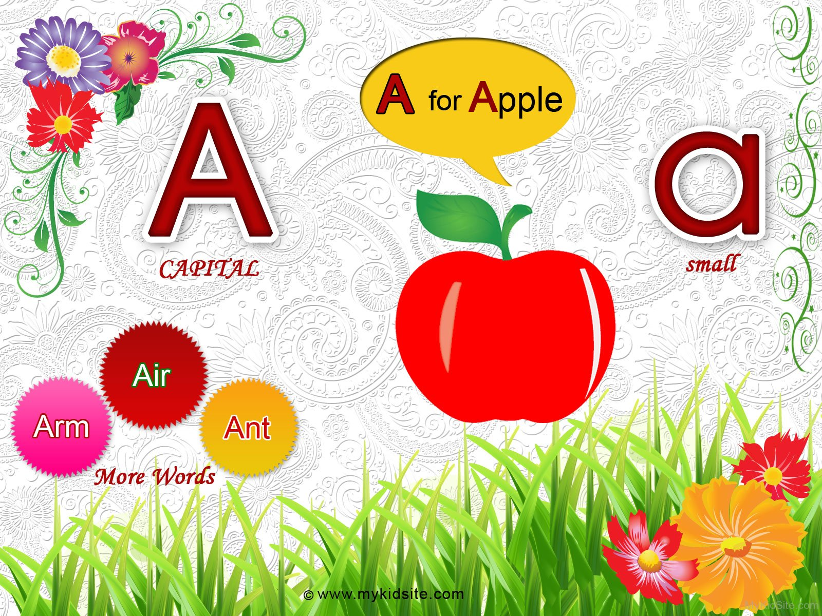 Alphabet Worksheet For Letter A