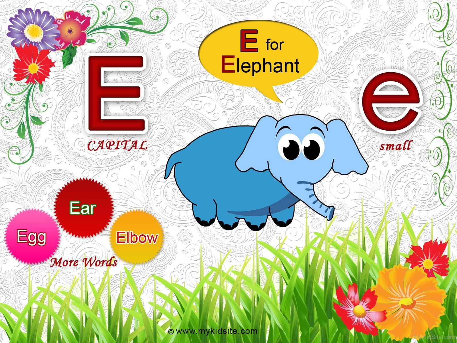 Alphabet Worksheet For Letter E