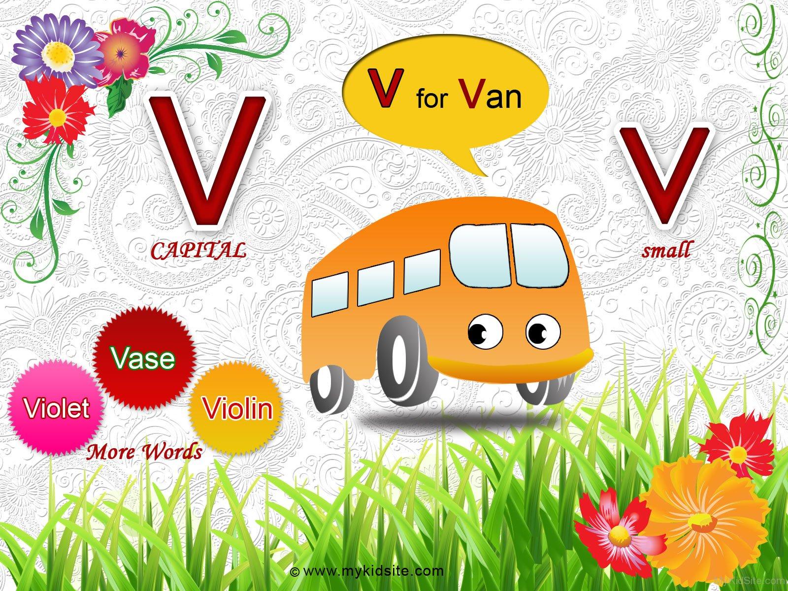 Alphabet Worksheet For Letter V