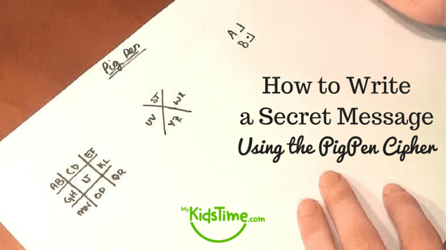 How To Write A Secret Message Using The Pigpen Cipher