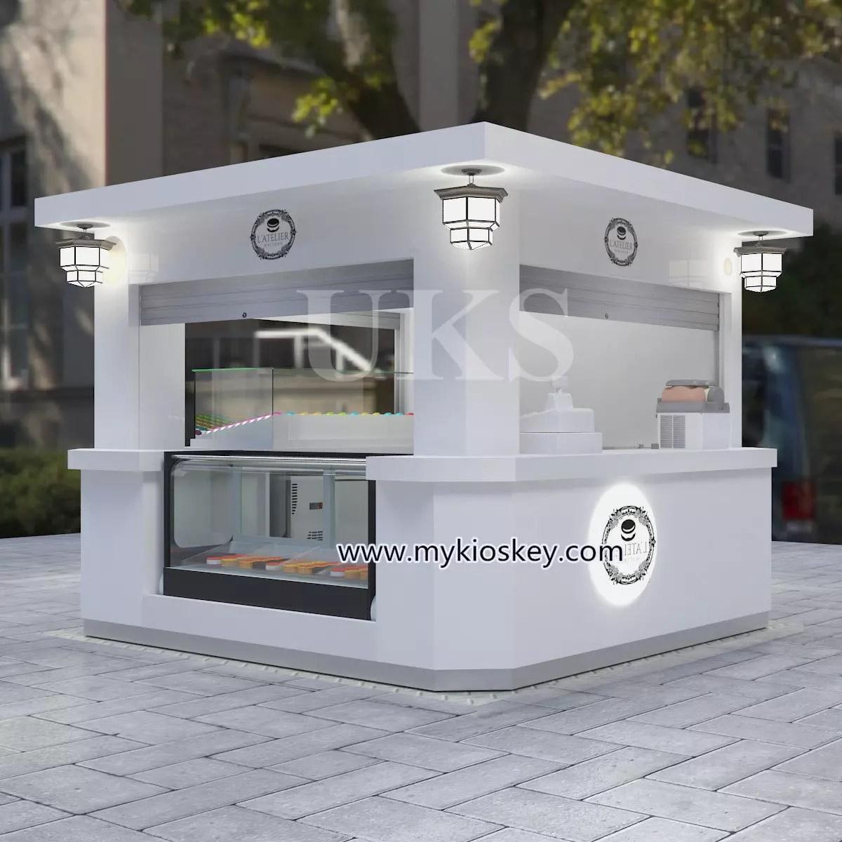 1010ft Elegant Macaron Outdoor Kiosk Design In Hot Sale