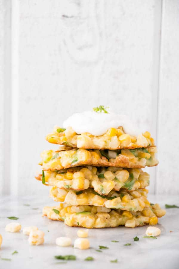 Jalapeño Lime and Corn Fritters