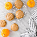 """These Maple Glazed Pumpkin Spice Cookies are light with the right amount of """"spice"""" and a delicious maple glaze!"""