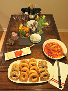 My Kitchen Love Blog - Bubbles & Bagels: How to Throw a Holiday Brunch