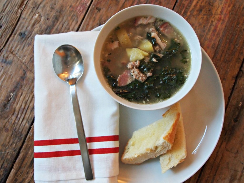 My Kitchen Love Blog - Sausage, Kale, and Potato Soup