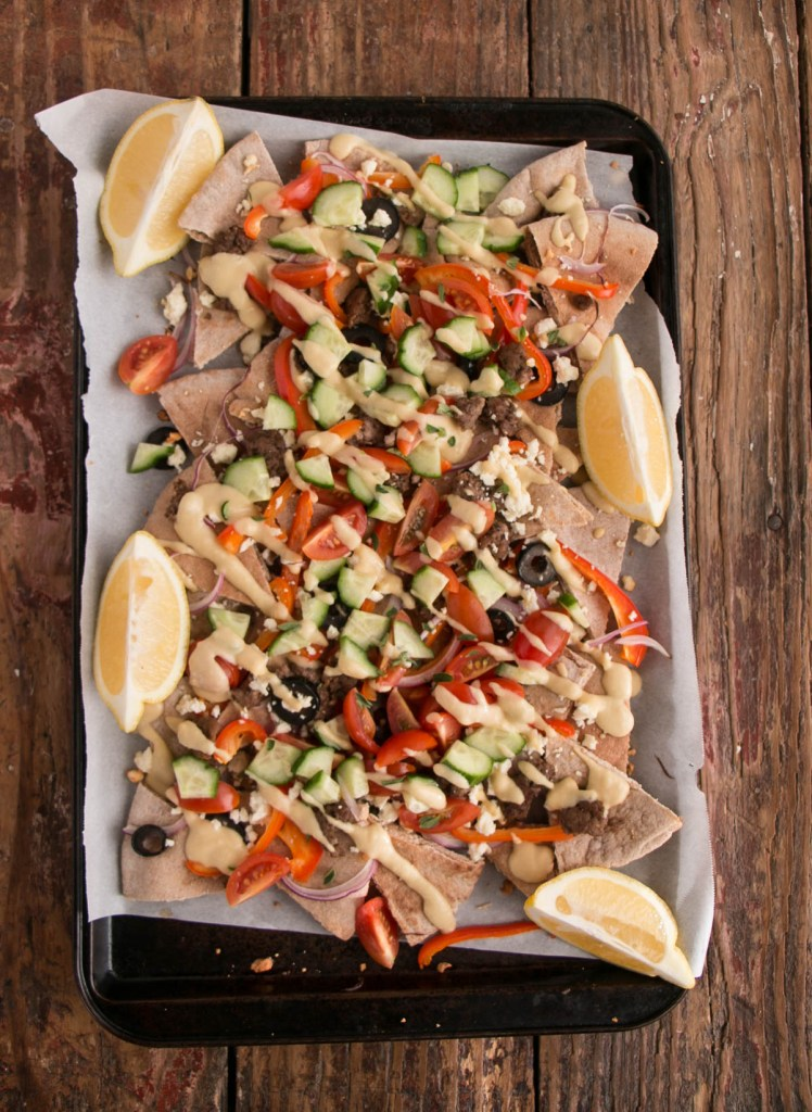 Loaded Greek Pita Nachos