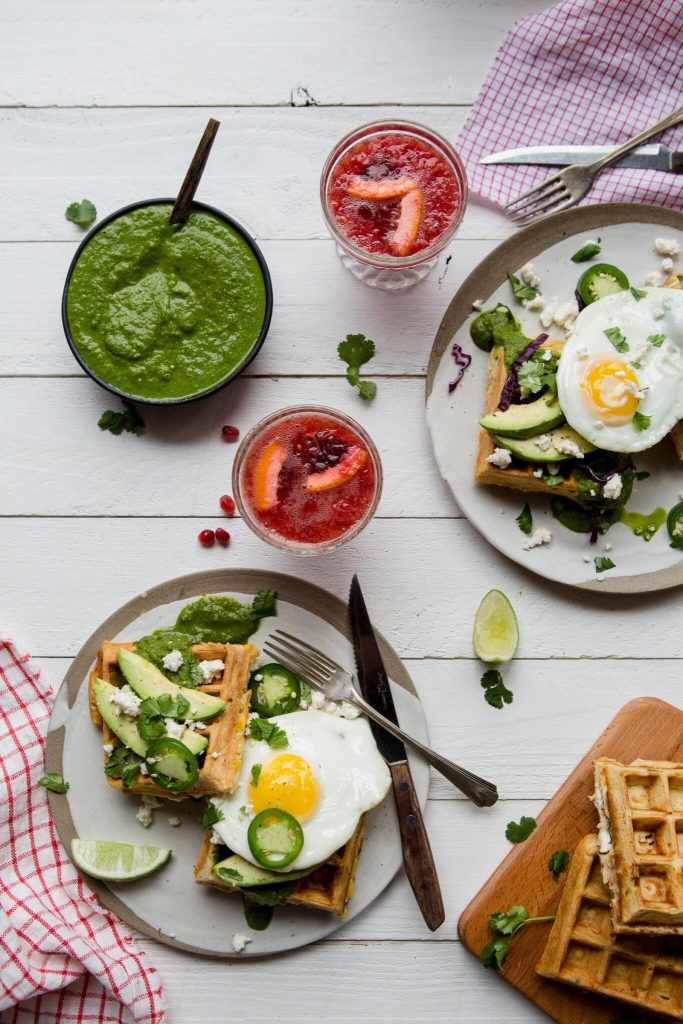 We Be Brunching – Savoury Mexican Waffles
