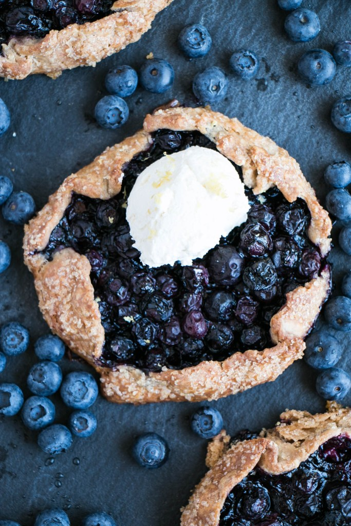 Blueberry Lemon Galettes | My Kitchen Love