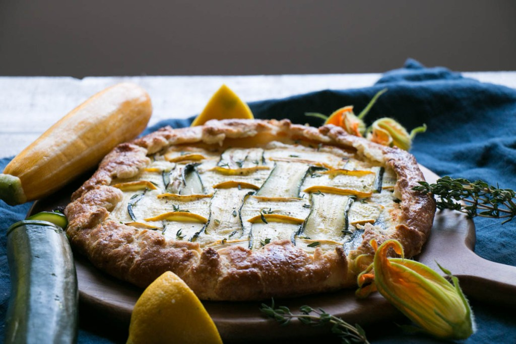Zucchini and Thyme Galette   My Kitchen Love