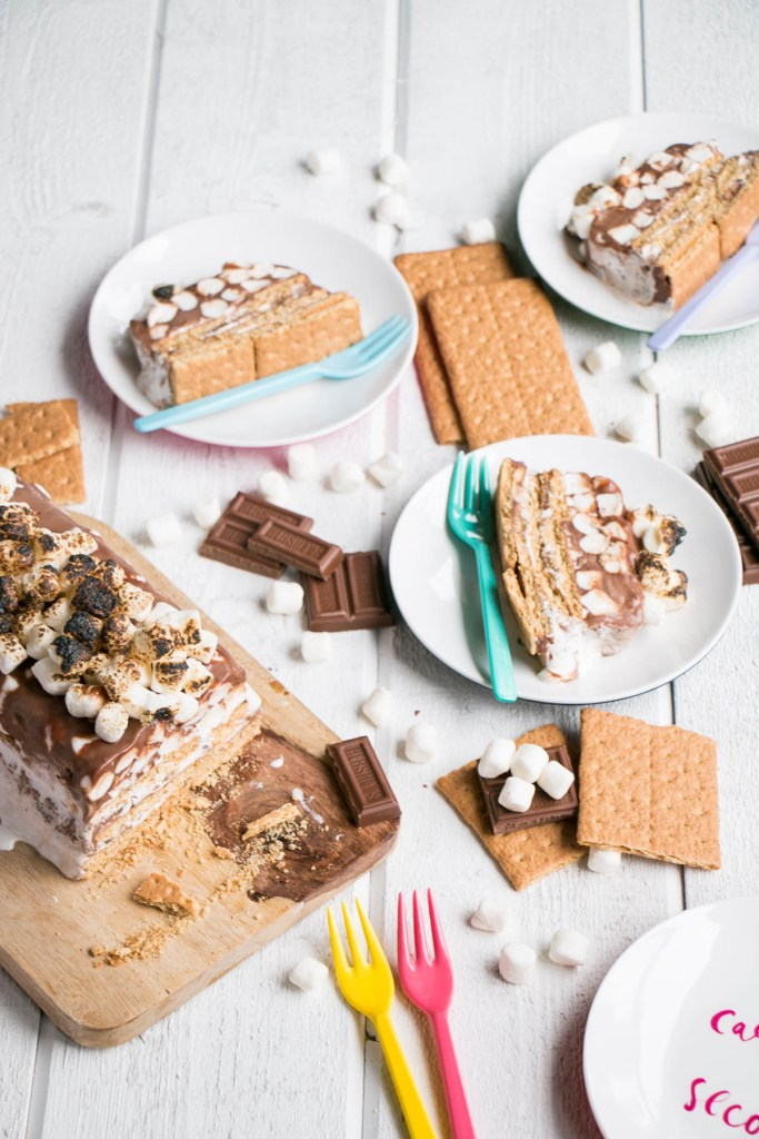 S'mores Ice Box Cake | My Kitchen Love