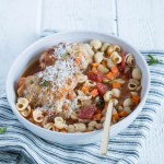 Bowl Full – Roasted Chicken Minestrone Soup