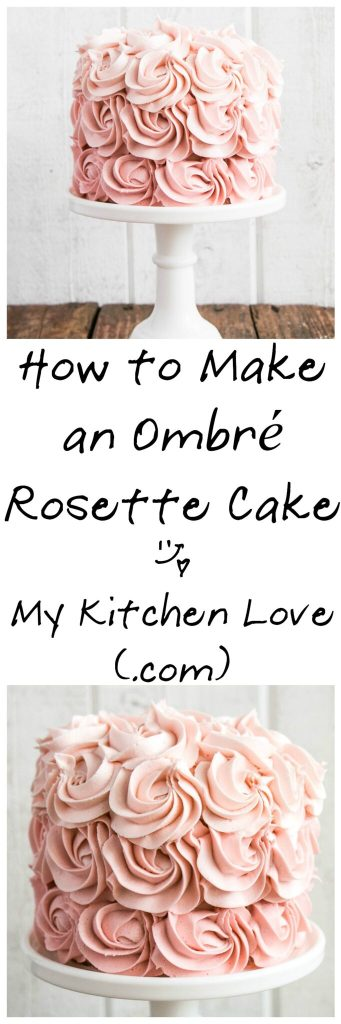 How to make an Ombré Cake | My Kitchen Love