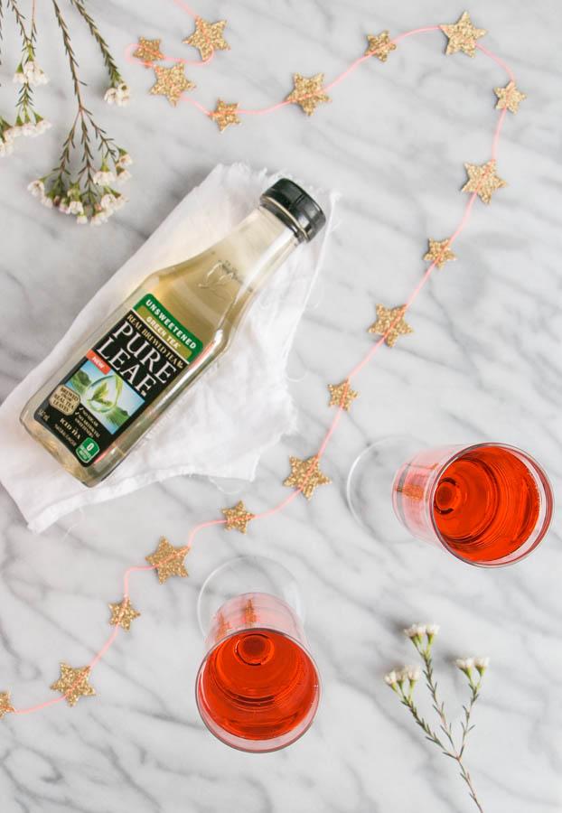 Lychee Green Tea Fizz | My Kitchen Love