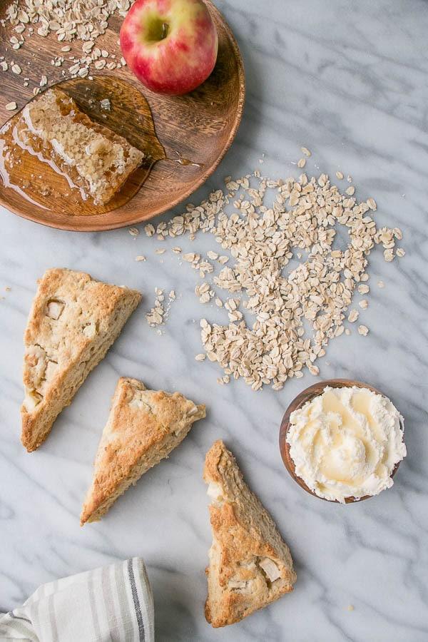 Apple and Honey Oat Scones | My Kitchen Love