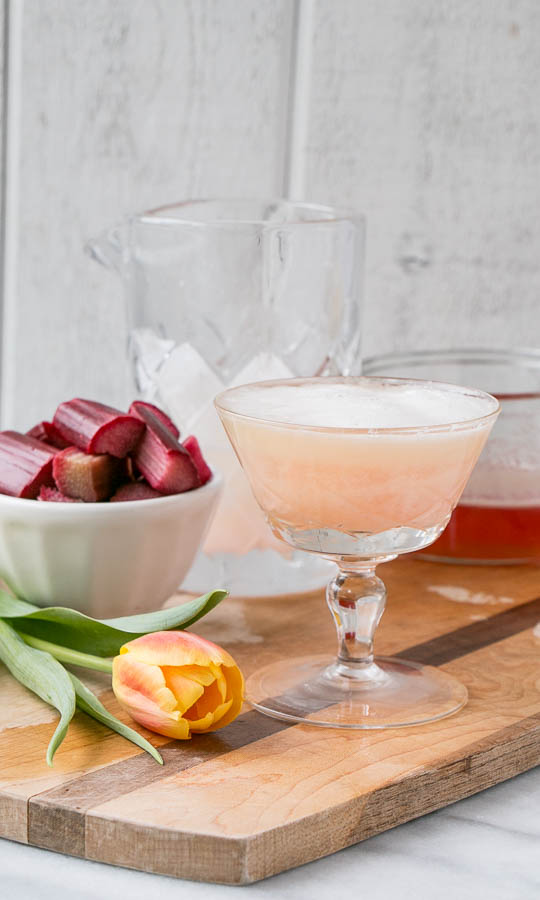 Rhubarb Pisco Sour | My Kitchen Love