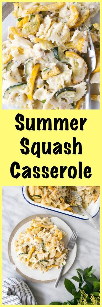 Summer Squash Casserole. Cheesy, delicious comfort food with a ton of zucchini!