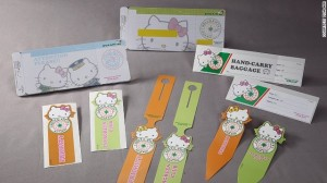 hello Kitty baggage tags