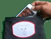 Love Your Cat black iPhone wallet wristlet