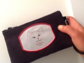 iphone cat case in black