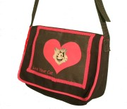 cat messenger bag by My Kitty Care