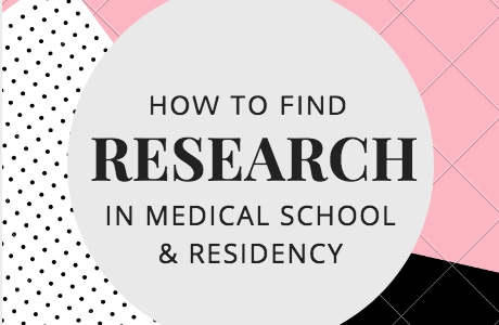 How To Find Research in Medical School and Residency