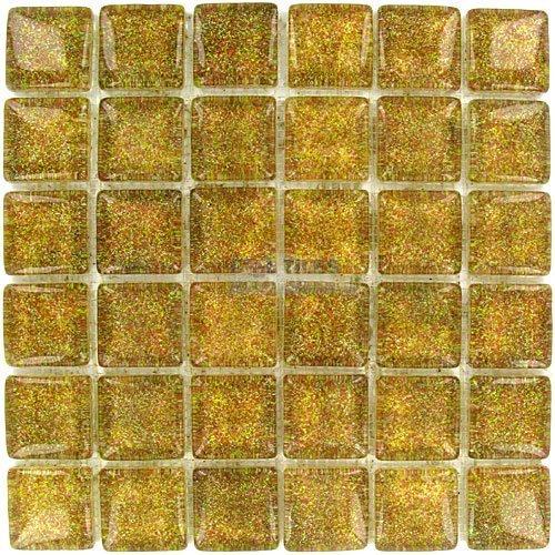 glass mosaic tile yellow gold