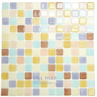 special recycled glass tile mesh backed sheet in pastel mix vidrepur
