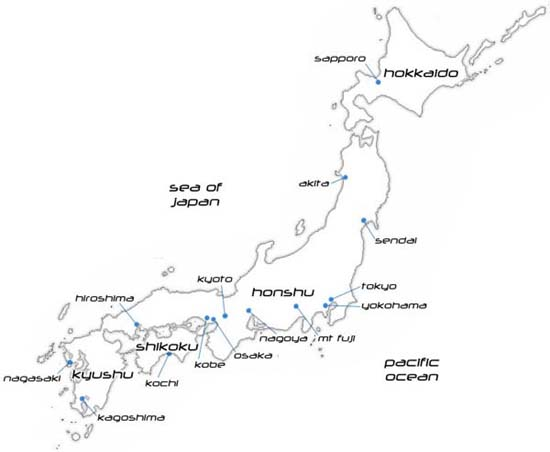 Simple Map Of Japan Mykpcouk - Japan uk map