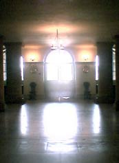 Inside the lower hall