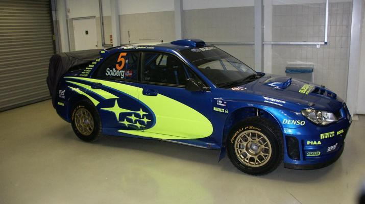 Petter Solberg's Subaru Rally Car