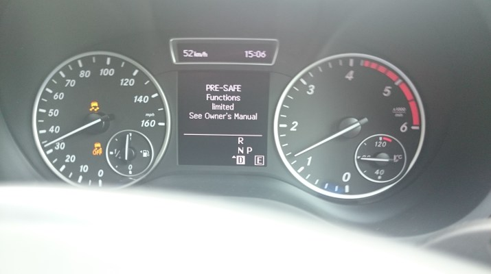 Mercedes Benz PRE-SAFE Functions Limited