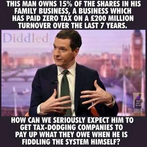 political corruption : George Osborne Tax
