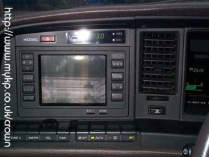 TV Screen in Toyota Crown MS137