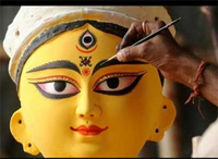 Durga Puja or Durgotsav celebrates triumph of Goddess Durga over Mahishasura.